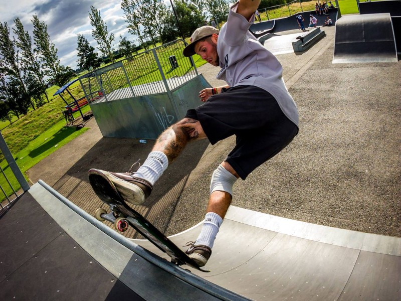Skate day fun. Phil Hepworth
